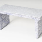 Shredded Collection Bench (White Edition)