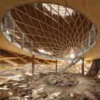 Vogelobservatorium 'T IJ  ontwerp RO&AD architecten en RAU met houten Zollinger-constructie
