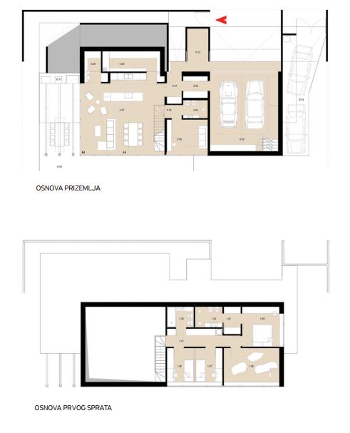 Plan-Kuća iza krova